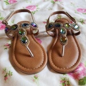 Other - NEW Kidpik Toddler Girls' Jeweled Sandals